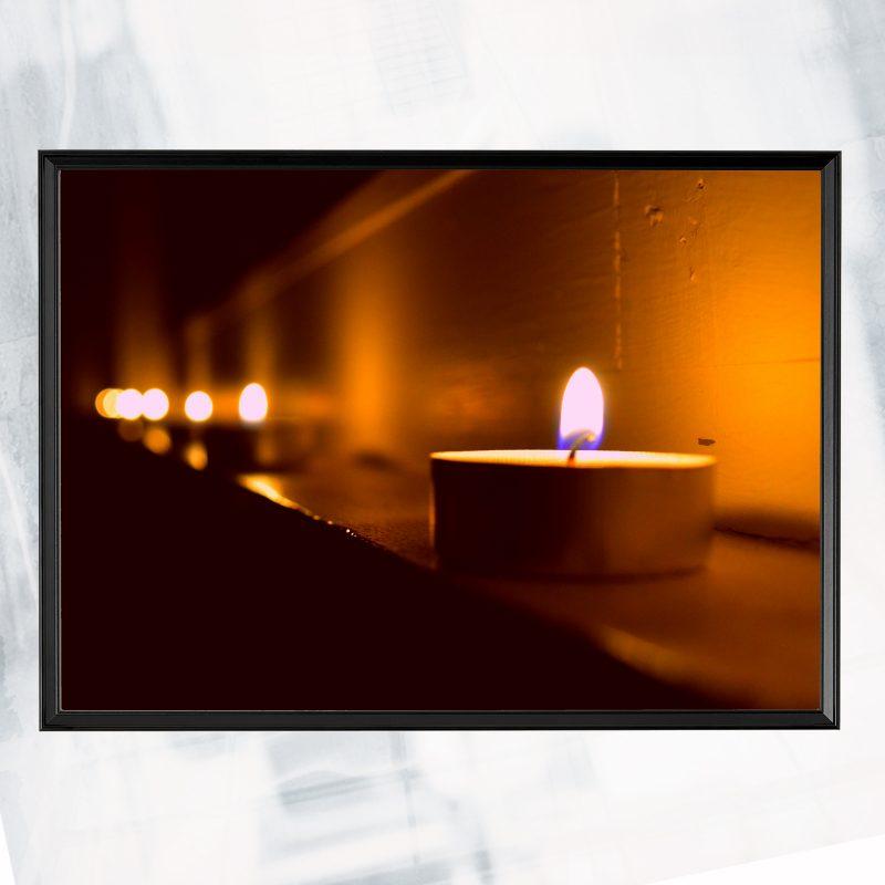 JA01-EX-L- Candel lit_framed