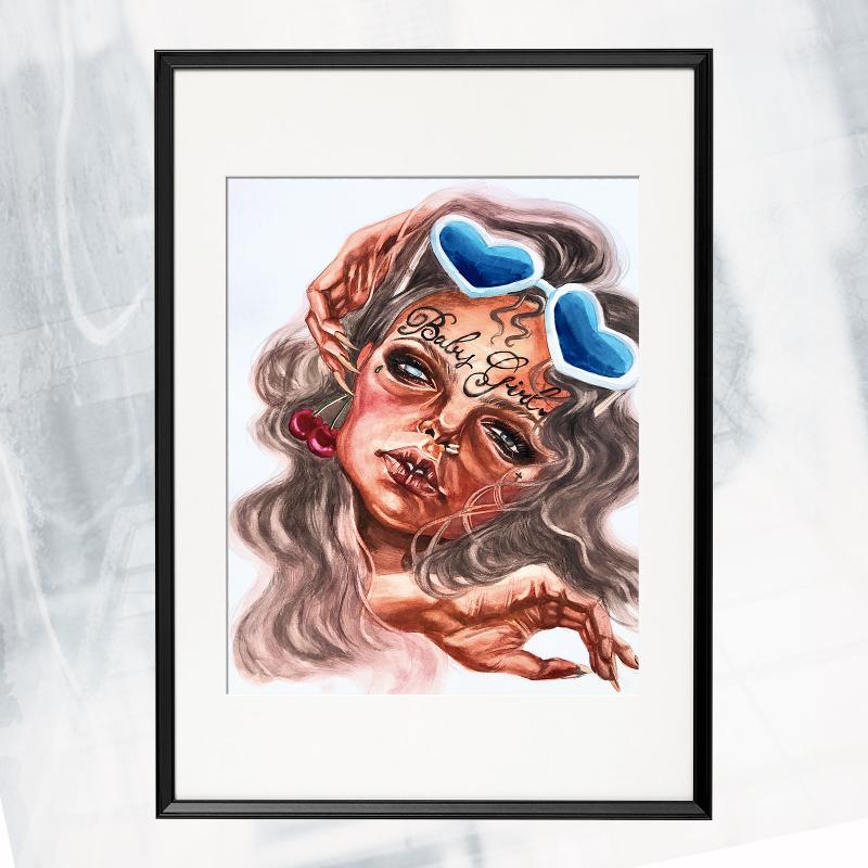 LW01-EX-A Cherry framed